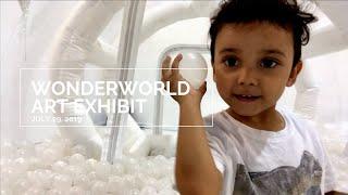 WonderWorld Space Art Exhibit NYC. {NYC with kids}