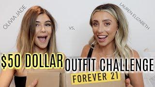 FOREVER 21 $50 OUTFIT CHALLENGE ft OLIVIA JADE! | Lauren Elizabeth