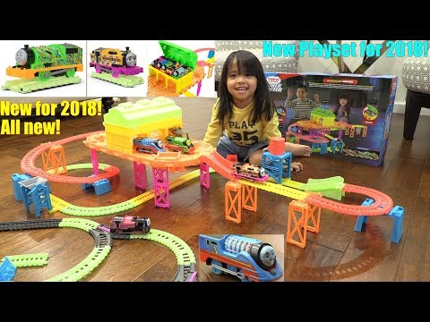 NEW Trackmaster Hyper Glow Station Playset. Hyper Glow Trains! Turbo Speed Thomas and Friends
