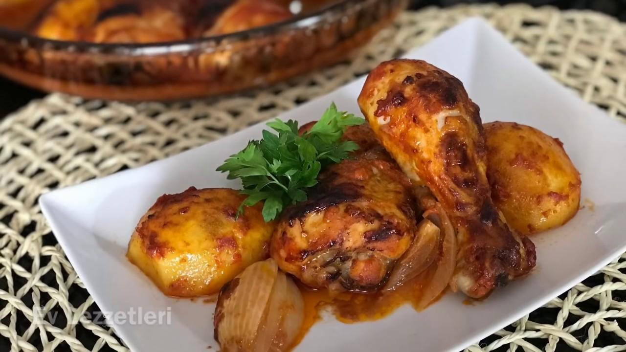Fırında Soslu, Patatesli Tavuk Tarifi / Kolay Yemek Tarifi / Ev Lezzetleri