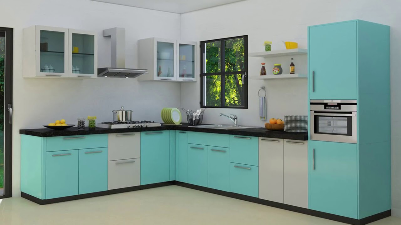 Modular Kitchen Shelves Designs in India - YouTube