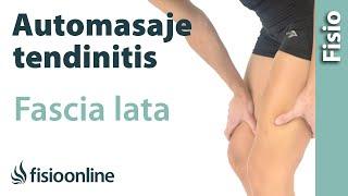 Auto-masaje para la tendinitis del tensor de la fascia lata.