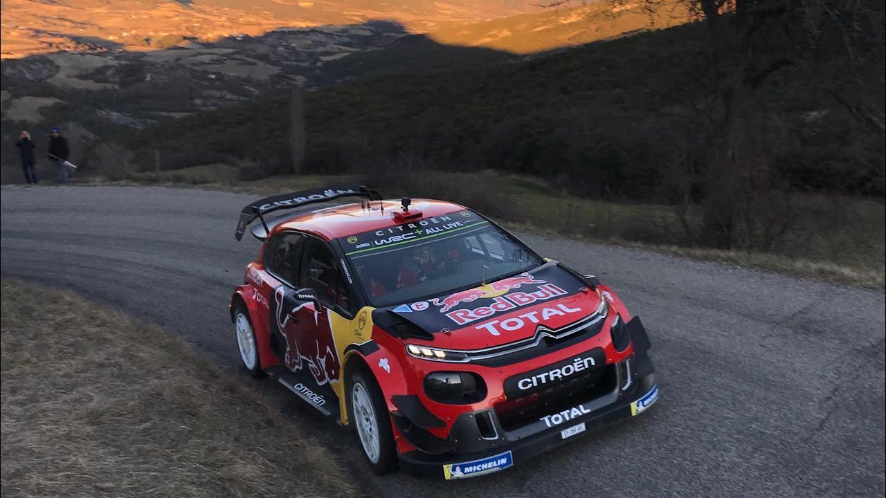 Citroën C3 Wrc Rallye Monte Carlo 2019 Tests Sébastien