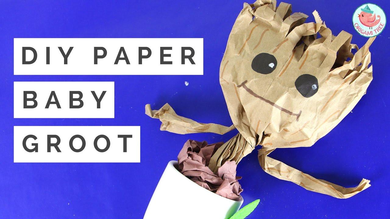 Diy Baby Dancing Groot Tutorial How To Make A Paper