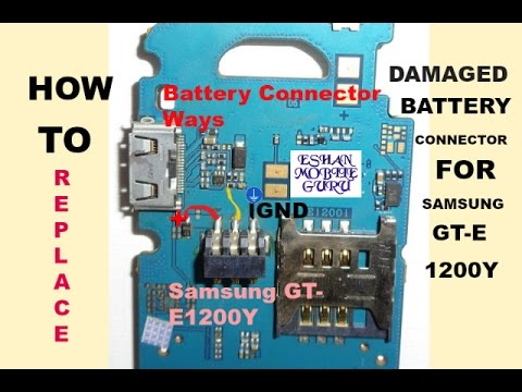 How To Replace Damaged Battery Connector for SAMSUNG GT-E 1200Y (Samsung All Basic Models)