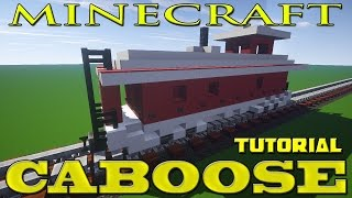 Minecraft Freight Train Car Tutorial (Caboose)
