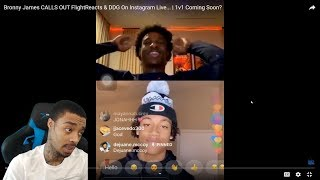 Reacting To Bronny James CALLS OUT FlightReacts & DDG On Instagram Live... | 1v1 Coming Soon?