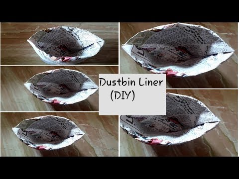 Newspaper DIY ideas//Dustbin liner Diy//Art from Waste -Tamil