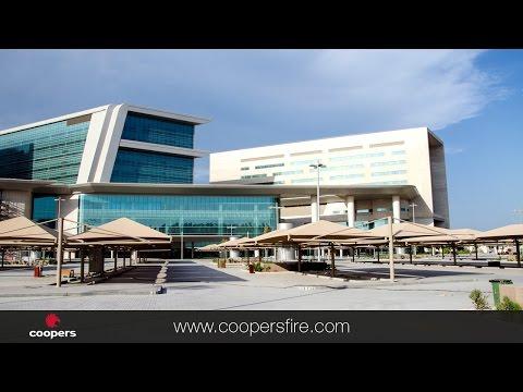 FireMaster® Vertical Fire Curtains installed at Hamad Bin Khalifa Medical City, Doha, Qatar