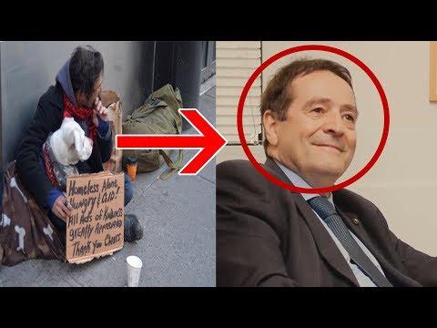 Er gab dem Obdachlosen immer Kleingeld. Als er ihn eines Tages wiedersah,traut er seinen Augen nicht