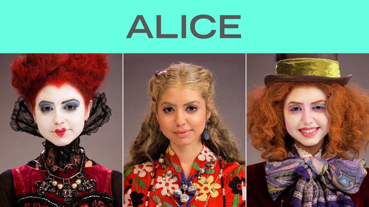 Девојката која се трансформира во 5 различни ликови од Алиса во 90 секунди