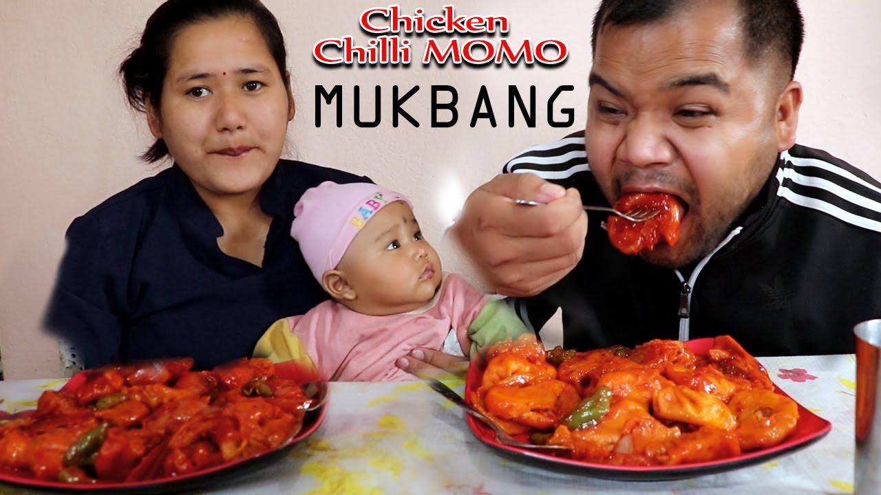 Download Chicken Chilli MOMO MUKBANG | Food N Fun Nepal | C momo Eating | Food World