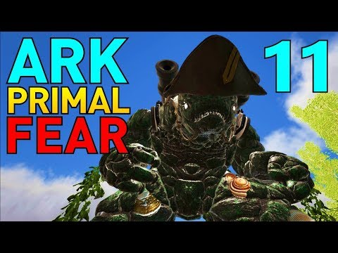 [11] Taming Captain Black Boulder! (Let's Play ARK Primal Fear Multiplayer)