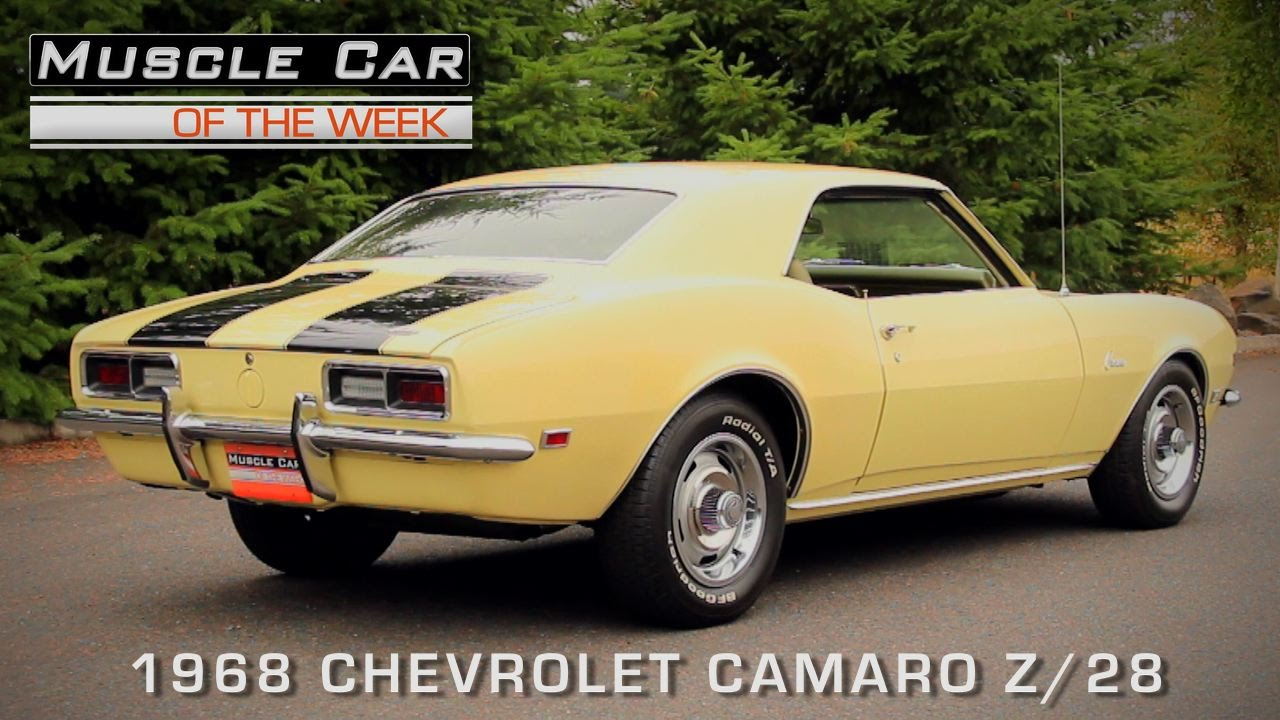 Muscle Car Of The Week Video Episode #131: 1968 Chevrolet Camaro Z/28    YouTube