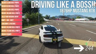 Forza Horizon 4 DRIVING LIKE A BOSS!! 1876HP RTR Mustang