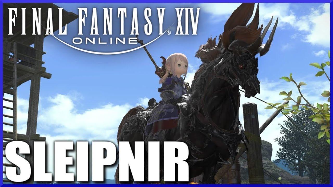 Final Fantasy Xiv Sleipnir Mount Review Youtube