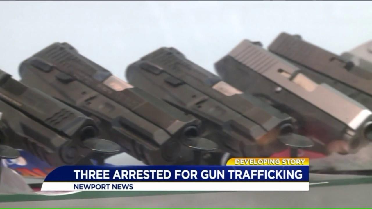 Three arrested for gun trafficking