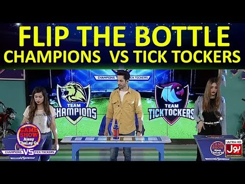 Flip The Bottle   Game Show Aisay Chalay GaLeague  TickTock Vs Champion