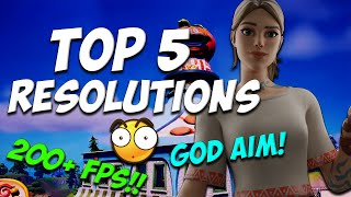 Top 5 stretch resolขtions for 200+ FPS!! -Fortnite Season 8! (god aim res)