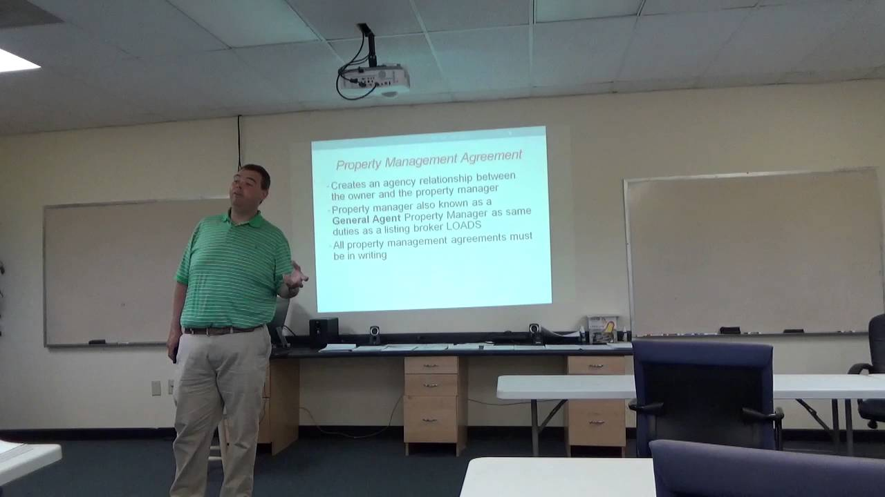 Pre License Chapter 12 Property Management - YouTube