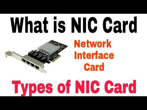 What is  NIC Card in Networking | Types of NIC Card | Networking Devices |