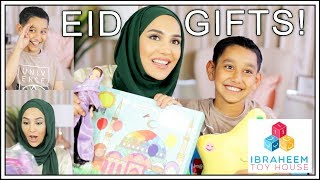 REACTING TO KIDS' EID GIFTS!   Ibraheem Toy House   Ad   Amena