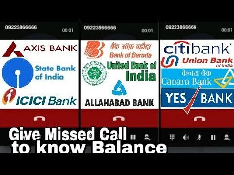 Missed Call Balance Enquiry Number of All Indian Banks