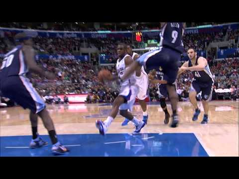 Tony Allen kicks Chris Paul in the face, gets flagrant foul 2 - Grizzlies @ Clippers - 2013.11.18
