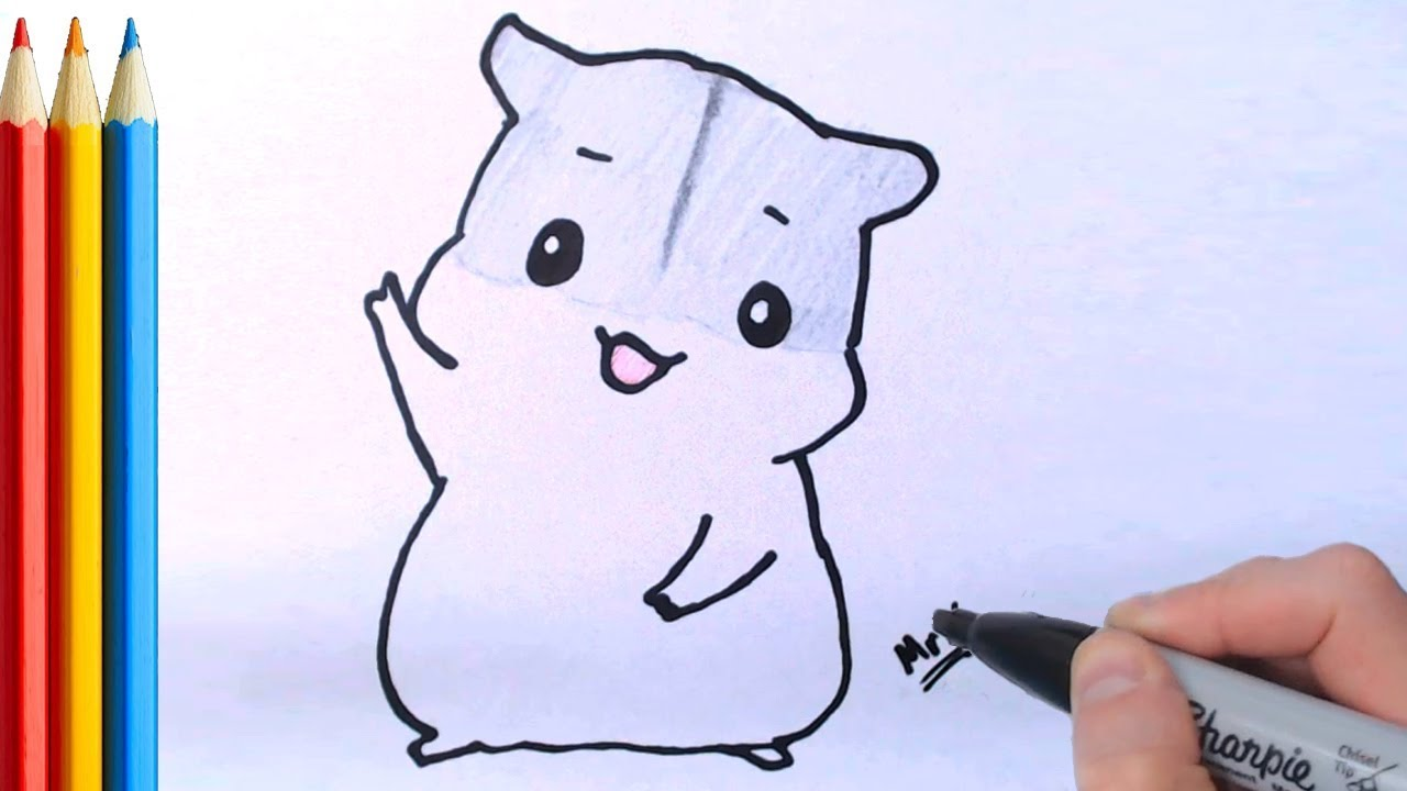 How To Draw Cute Hamster Super Easy Step By Step Tutorial Youtube