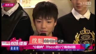 "【TFBOYS】搜狐視頻專訪    小鲜肉""TFboys的17個秘密問答   141205"