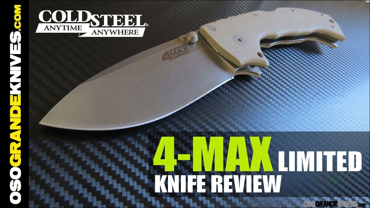 Cold Steel 4 Max 62RM Folding Knife Review | OsoGrandeKnives
