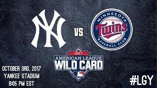 Yankees 2017 Wild Card Game Pump Up   #LGY