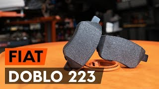 How to replace Brake pad set FIAT DOBLO Cargo (223) Tutorial