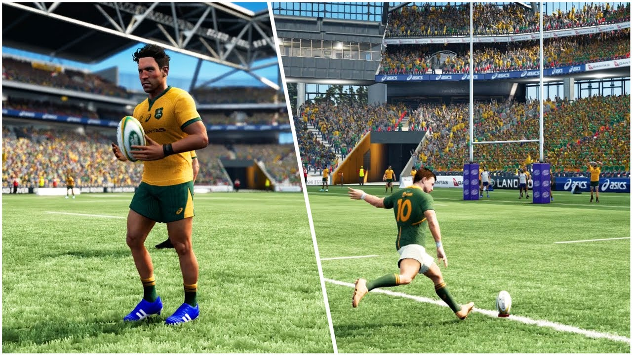 Rugby Challenge 4 Gameplay *VERY CLOSE* Australia Vs South Africa (No Commentary | PS4 Pro)