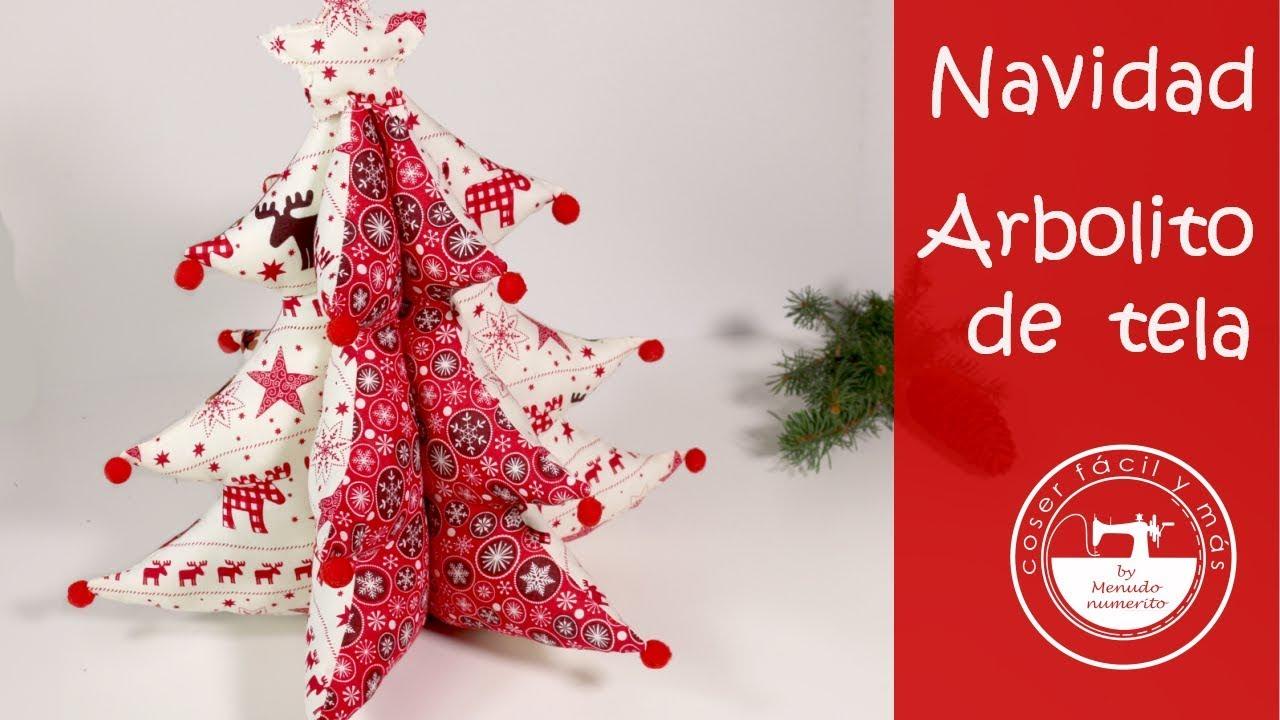 adornos de navidad un rbol de tela patrones gratis - Arbol De Navidad De Tela