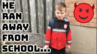 HE RAN AWAY FROM SCHOOL! // POLICE WERE CALLED...