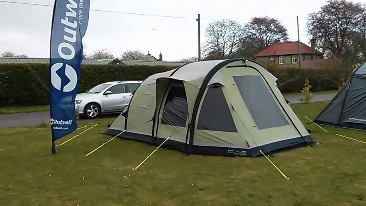 Outwell Concorde M Inflatable In The Wind And Rain Youtube