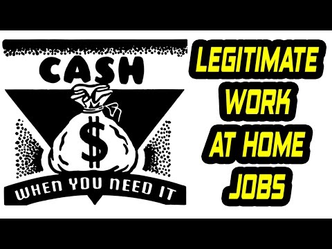 Legitimate Work At Home Jobs - Work From Home Data Entry