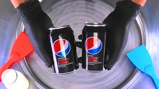 Cola Ice Cream Rolls | how to make rolled Ice Cream with PEPSI Max Coca Cola Coke recipe | roll ASMR