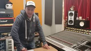 NEVE 8801 CHANNEL STRIP 1U UNBOXING VIDEO REVIEW WITH JAMES CURTIS-THOMAS AT ESSEX RECORDING STUDIOS