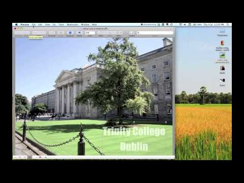 Image editing on a Mac with Preview - tutorial