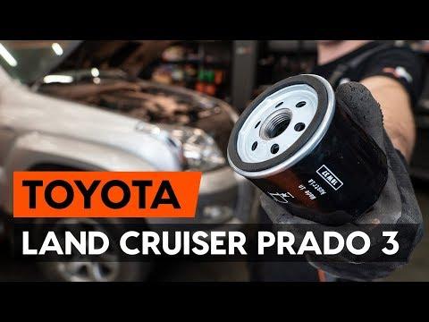 How to replace oil filter on TOYOTA LAND CRUISER PRADO 3