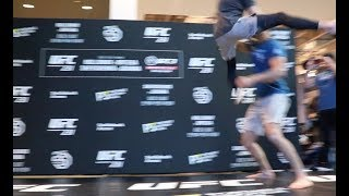 Brian Ortega Open Workout UFC 231 - Flying Triangle Choke !
