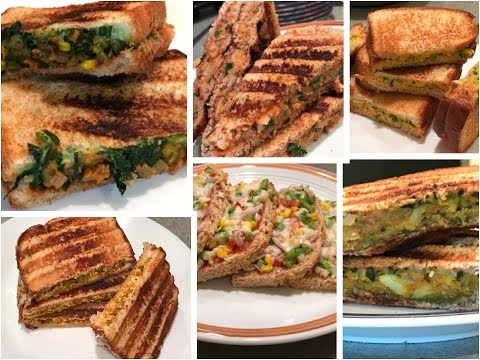 6 Best Veg Sandwich Recipes | 6healthy Sandwich Recipes For Kids | Healthy Breakfast/Lunch Box Ideas