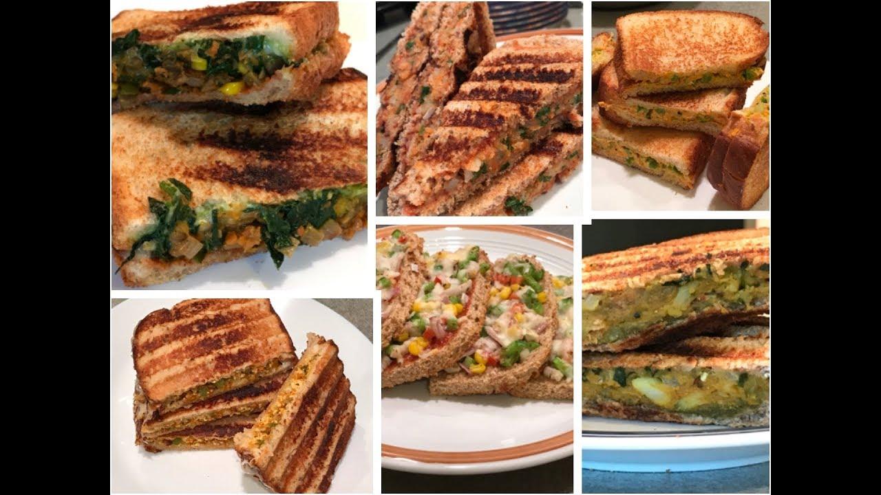 Download 6 Best Veg SANDWICH RECIPES   6 healthy SANDWICH RECIPES for kids   Indian Breakfast/Lunch box Ideas