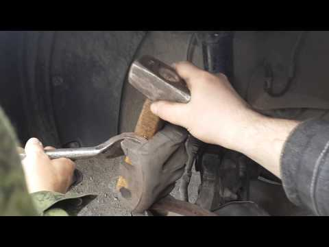 Kia Sorento XM 2012 замена тормозных колодок