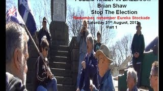 Brian Shaw presenting Public Rally in  ballarat sovereign hill part 1