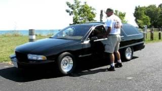 Buick Roadmaster wagon LT1 burnout 1