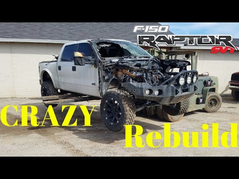 Rebuilding a Wrecked 2011 Ford Raptor SVT bought from Copart