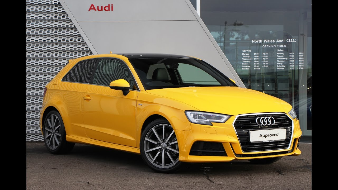 cx66npu audi a3 tdi s line yellow 2016 youtube. Black Bedroom Furniture Sets. Home Design Ideas